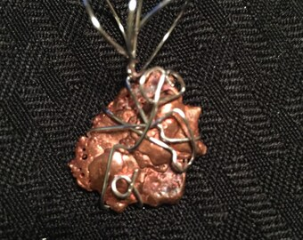 Copper splash pendant
