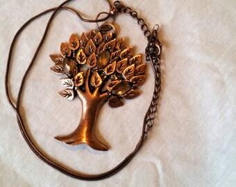 Copper Tree Necklace
