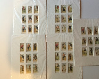 5 Matted (9 cards each) Cope's Golfers Reprint Cigarette Cards
