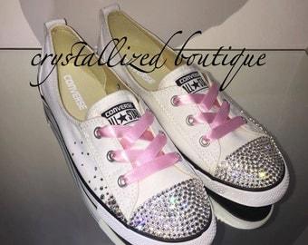 Swarovski Embellished Converse Shoes