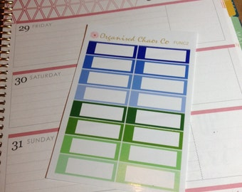 Blue/Green Functional Appointment Planner Stickers FUNC2