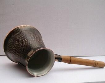 8 Cups copper ARMENIAN turkish COFFEE pot maker CEZVE ibrik armenia jezve gift