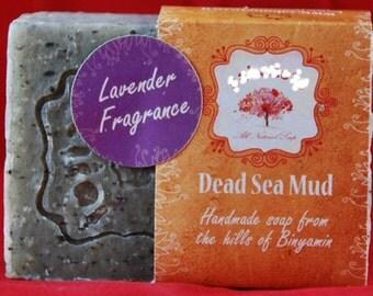 Natural ALL 100% Handmade Organic soap Dead Sea Mud village made