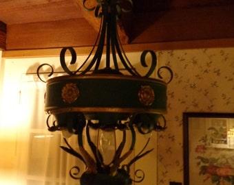 Vintage Tin Chandelier