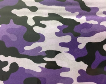 Purple camo fabric - camo fabric -  fabric - material - sewing -supply notion -