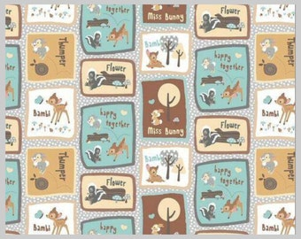 In stock - Disney bambi - bambi fabric - disney fabric - material -sewing -supply - notion - bty -1 yard yard