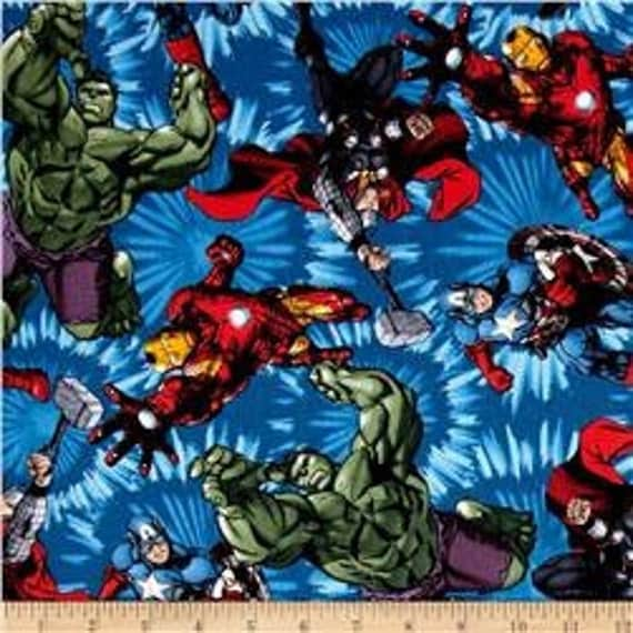 Marvel Fabric Incredible Hulk Fabric Thor Captain