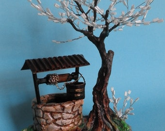 Bonsai Tree Beaded Sculpture Spring