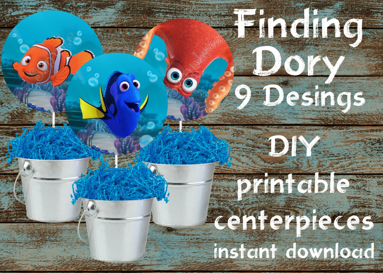 Finding dory centerpieces finding dory by 954onlineinvitations for Nemo decorations