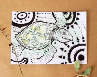 Original Turtle Illustration