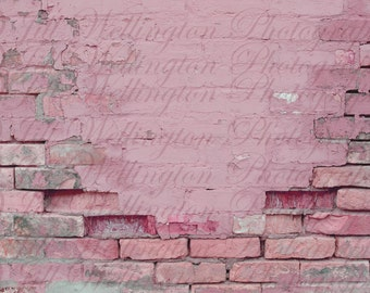 DIGITAL Brick Wall, pink, painted, aged, background, backdrop, for photos, photography, photographers