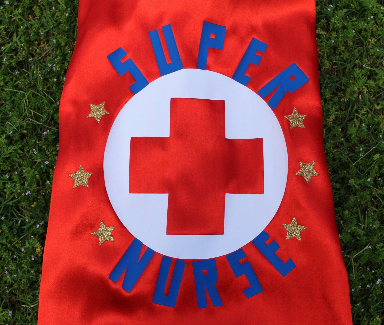 White pinafore apron nurse - Nurse Gift Adult Cape Nurse Appreciation Adult Superhero Cape Super Nurse Super Nurse Cape Red Cape With Blue Liner Gold Glitter Star