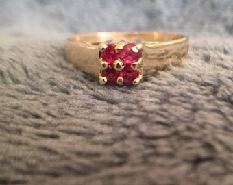 Ruby ring in 10k gold.