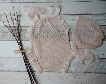 Molly Sitter Romper and Bonnet set
