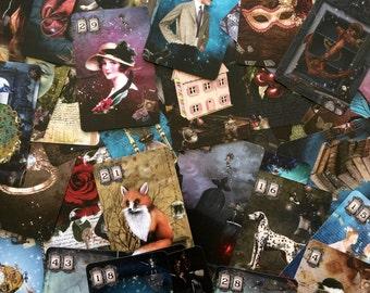 Fantas-Tea DECK - Bridge Size. Tea Leaf Reading Cards.  Tea Leaf Fortune Telling Cards. Bridge Size. Oracle Cards.  Tea Leaf readings.