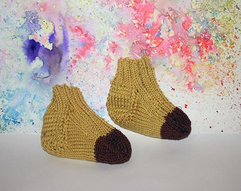Banana Baby Socks, Hand knitted, 100% Cotton,Colourful and Unique. booties, booty, newborn, baby shower