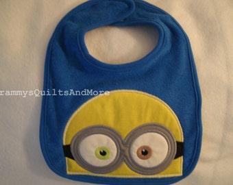 Baby bib inspired by Bob the Minion