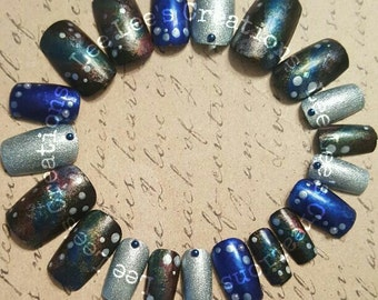 20pc Galxey Hand Painted Nail Set