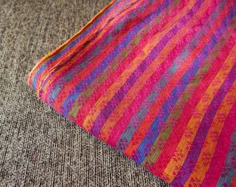 1 yard of South Cotton Fabric, Handwoven Fabric, Indian Cotton Fabric, Indian Fabric, Striped Fabric