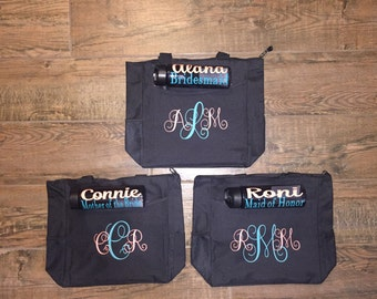 Wedding Party Totes and bottle