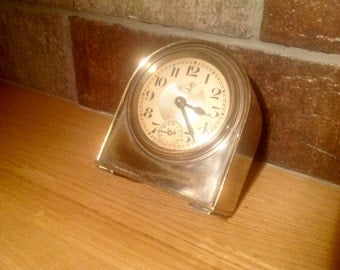 Artdeco french travel alarm clock