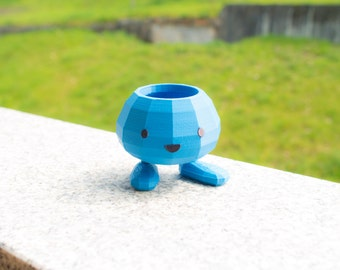 Oddish Flower Pot  - Pokemon Planter - 3d Printed Garden / Home Decoration