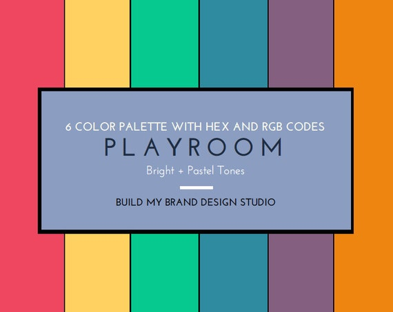 Playroom - 6 Color Digital Palette with HEX and RGB Codes ...