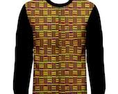 African Kente Long Sleeve T Shirt