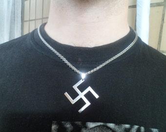 Stainless Steel Ganesh Buddha Cross Necklace.