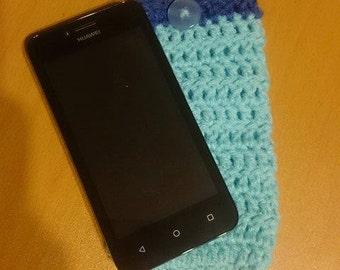 Blue phone sock