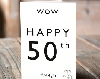 Happy 50th Greeting Card