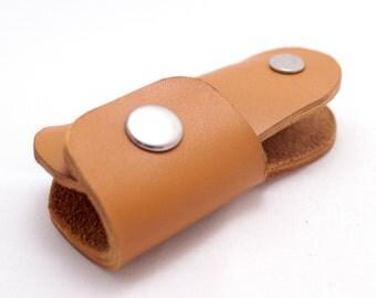 Genuine Leather key holder Orange Leather key holder leather key case leather key chain Holds 4-10 regular keys Convenient key holder