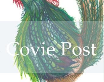 Inner Coastal Ornamental Rooster Greeting Card