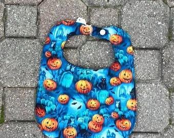 100% Cotton Halloween Bib (Listing is for 1 bib only)