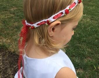 Roses & ribbon headband