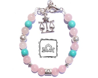 Libra Libra Libra Libra Stone Bracelet-Bracelet-Birthstone-Libra Zodiac Jewelry-Bracelet-Birthday gift-Birthday ideas