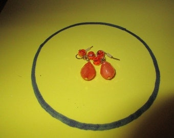Shades of Orange dangle earrings