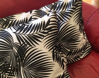 Quality Hand Made,Black and White Butterfly Fern Design Cushion Covers