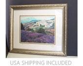 "Framed Print ""Lavender Fields"" Provence, France by Jan Walsh"