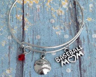 Baseball Mom Bracelet- Baseball Jewelry- Baseball Mom- Bracelets- Baseball- Gift for Mom- Jewelry