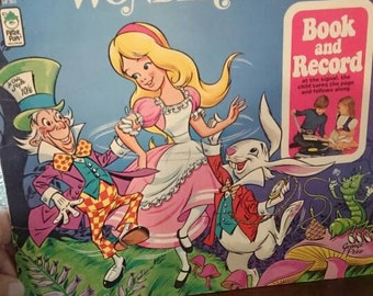 Alice In Wonderland Album 1971 Peter Pan Records/Story Book/Nursery Decor