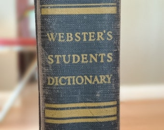 Webster's Students Dictionary 1930's
