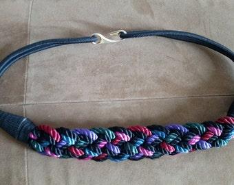 Vintage 1980s Braided Cord Belt