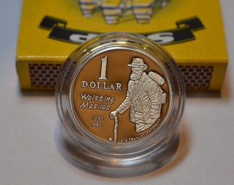 1 Dollar Silver Coin Waltzing Matilda Australia 1995 Very Good condition