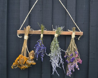 Dried Flower Rack with Flowers