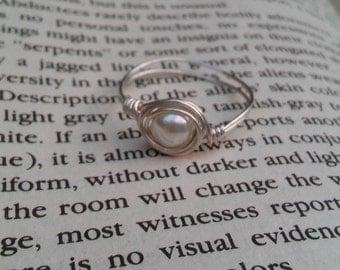 Dainty Swarovski Pearl Ring