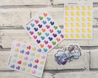 Rubber duck stickers for Erin Condren, Plum Paper, Filofax, Kikki K (DPD174-176)