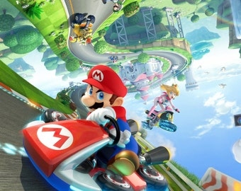 "Mario Kart 8 Poster  8.5"" x 11"" - 11"" x 17"" - 13"" x 19"""