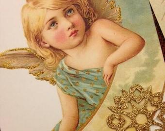 Angels Among Us Bunting Holiday Christmas Decoration  Bunting