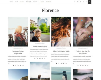 Florence - Responsive and Beautiful Blogger Template - Blogspot template